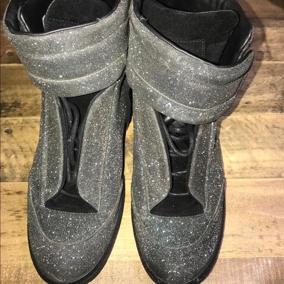maison martin margiela glitter sneakers